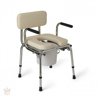 Drop Arm Commode Padded Bedside Medline Heavy Duty Lateral T