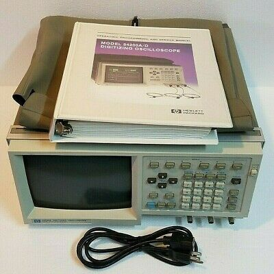 Hp 54200a Digitizing Oscilloscope 2 Channels With Manual Power Cord