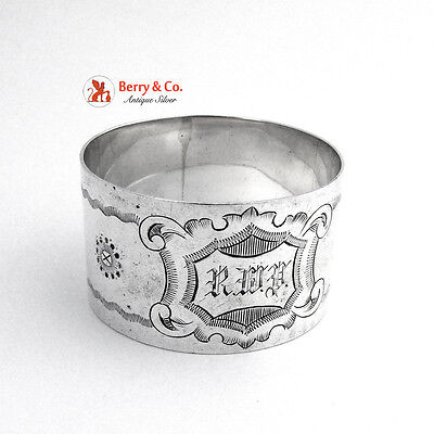 Napkin Ring Engraved Sterling Silver 1900