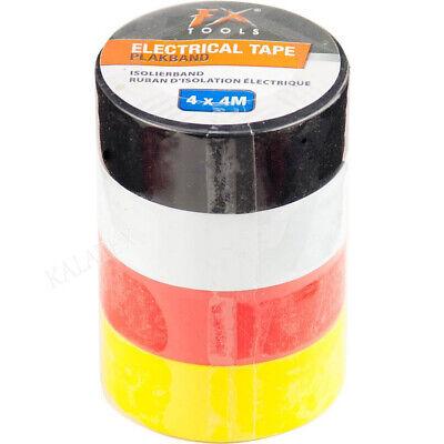 4 Ruedas Cinta Aislante Eléctrico Adhesiva Iso Banda de Color PVC Cable...