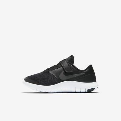 Nike Flex Contact Boys Shoes 917934-002 Black White NEW Size 1Y