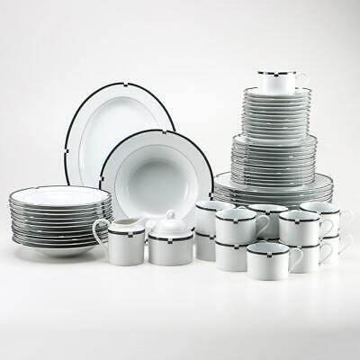 MIKASA MIDNIGHT CHINA Cup Sets Rimmed Bowls Salad Plates Creamer SELECTION #107