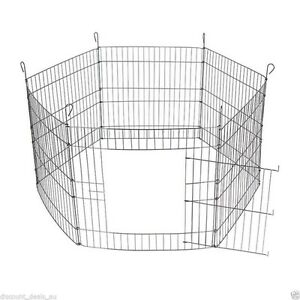 Foldable Pet Play Pen Animal Enclosure Cage 8 Panels - AS NEW! Dianella Stirling Area Preview