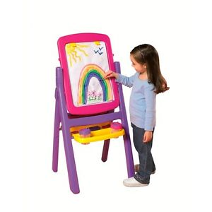 Crayola Quick Flip 2 Sided 4 in 1 Easel - Pink - Brand New