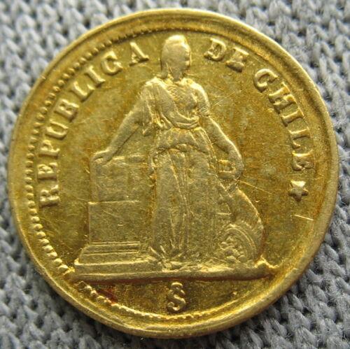 Chile 1861 Gold Peso