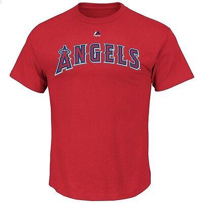 Genuine Mlb La Los Angeles Angels Majestic Wordmark Adult T Shirt Bnwt Jersey