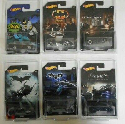 Hot Wheels Batman Vehicles Collection set of 6 Classic TV and Movie Batmobile