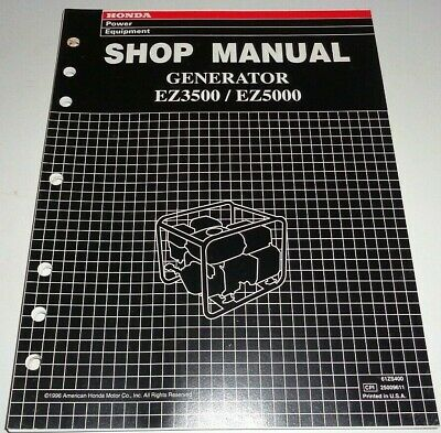 Honda Ez3500 Ez5000 Generator Service Shop Repair Workshop Manual Original 996