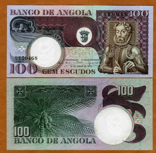 Angola, 100 Escudos, 1973, P-106, UNC