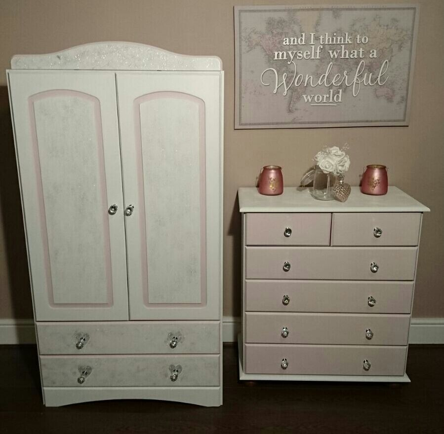 Bedroom Furniture Stoke On Trent Childrens Wardrobe And Drawes Chest Girls Princess Furniture