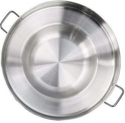 Large Mexican Wok Comal Cazo Griddle Fryer Deep Fry Pan Stainless Steel 22 5