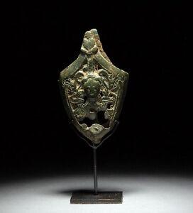 Ancient-Viking-Medieval-Bronze-Sword-Chape-Odin