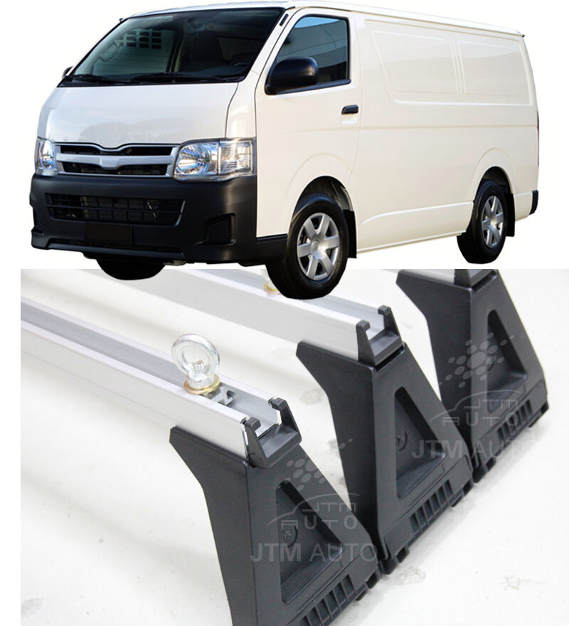 3 X HEAVY DUTY ADJUSTABLE ROOF RACKS to suit Toyota Hiace LWB HIACE 2005-2019