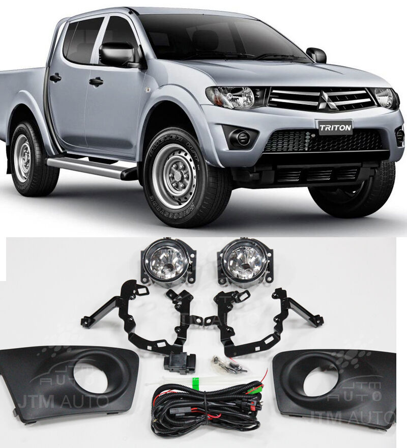 Driving/ Fog Lights Lamps Complete Kit Suits Mitsubishi Triton 2009-2014