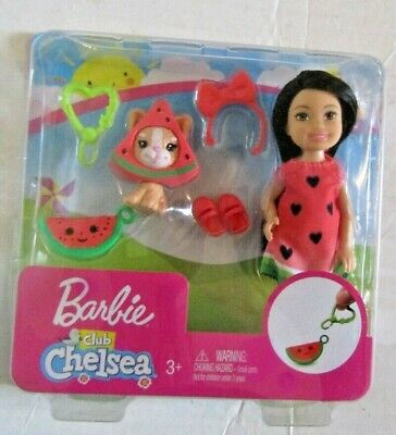 Barbie Club Chelsea WATERMELON & CAT Dress Up Set NEW unopened rare