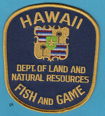 HAWAII DNR NATURAL RESOURCES FISH & GAME SHOULDER PATCH