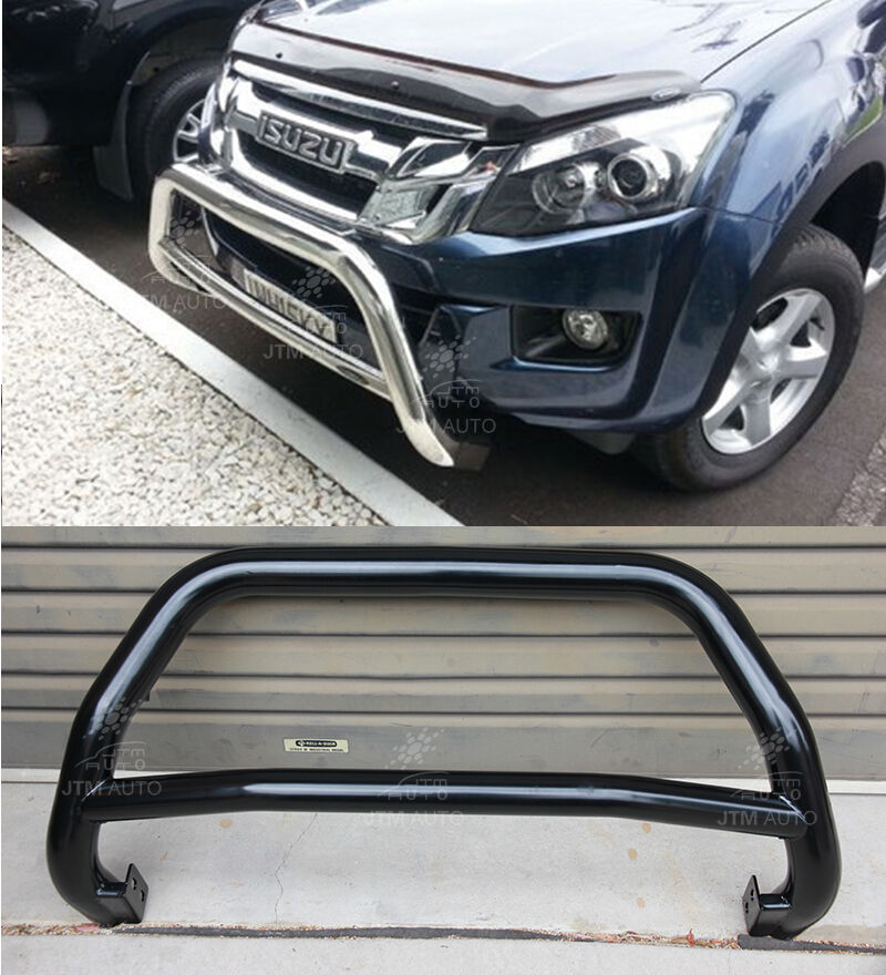 Black Nudge Bar Grille Guard Suits Isuzu D-Max DMAX Holden Colorado 2012-2018