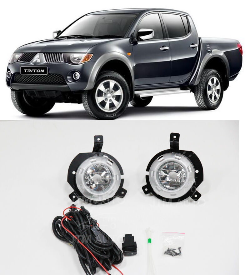 Driving/ Fog Lights Lamps Complete Kit Suits Mitsubishi Triton 2006-2008