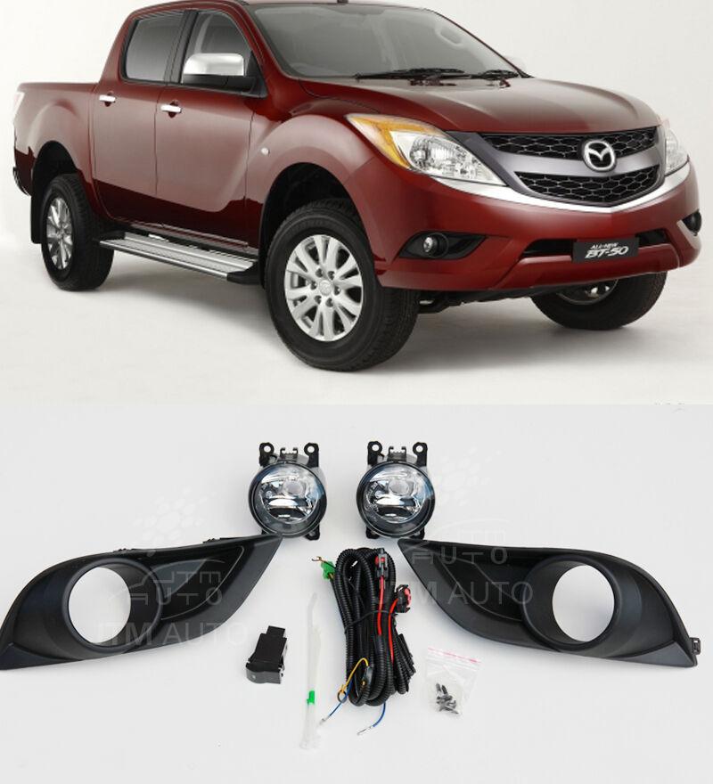 Driving/ Fog Lights Lamps Complete Kit to suit Mazda BT-50 BT50 2012-2018