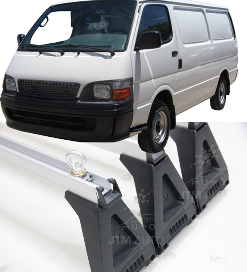 3 X Heavy Duty Adjustable Roof Racks Suitable For Toyota Hiace 1993-2004
