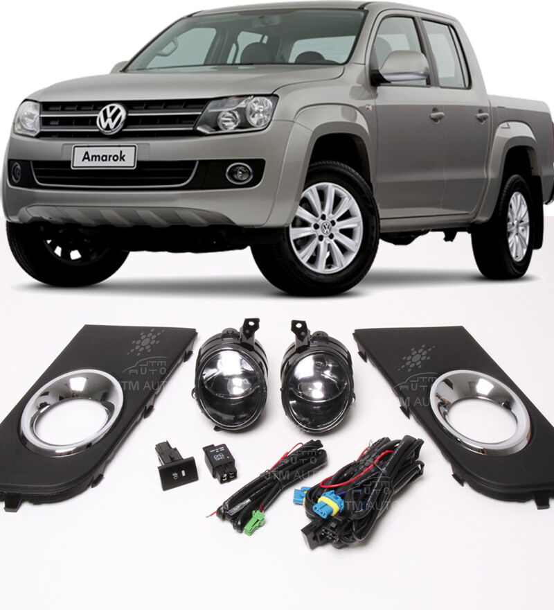 Driving Fog Lights Lamps Complete Kit Suits Volkswagen VW Amarok 2011-2016