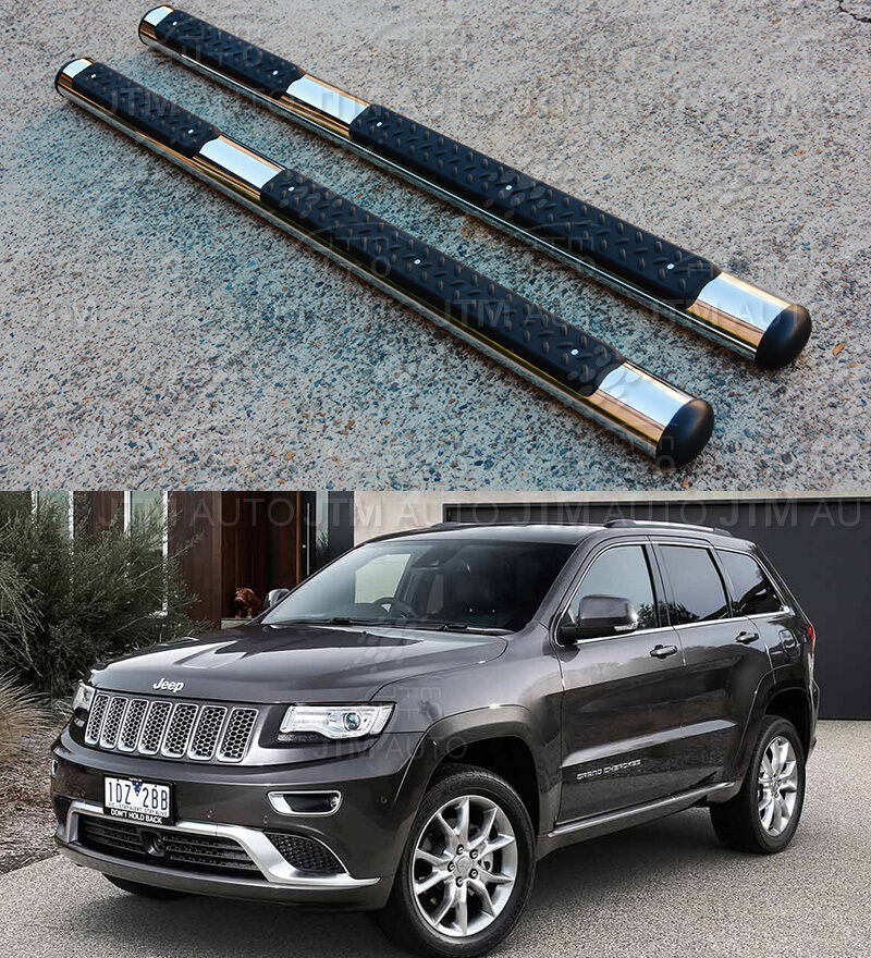"OEM Style 4"" Stainless Steel Side Steps Boards for Jeep Grand Cherokee 2011-2018"