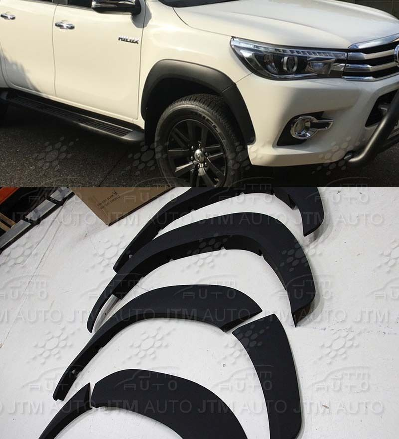 4 Door Fender Flares Wheel Arch Suitable For Toyota Hilux Rugged X 2015-2018