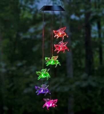 Color-Changing LED Solar Flying Pigs Mobile
