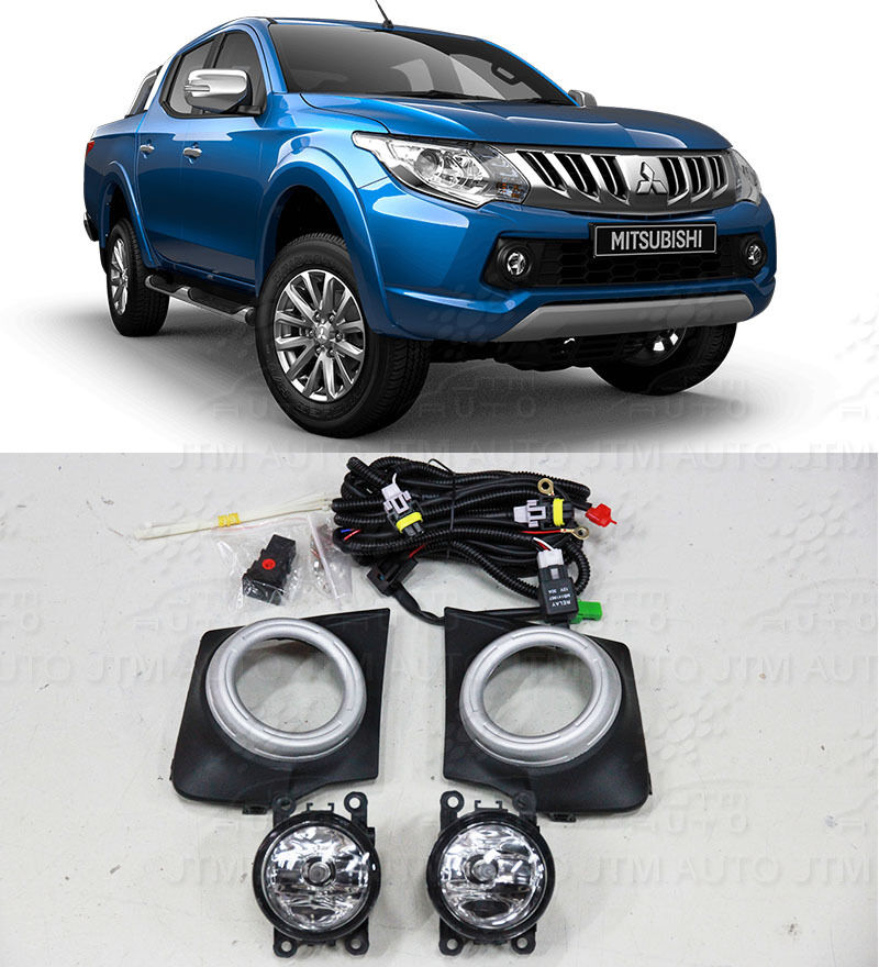 Driving/ Fog Lights Lamps Complete Kit Suits to Mitsubishi Triton 2015-2018
