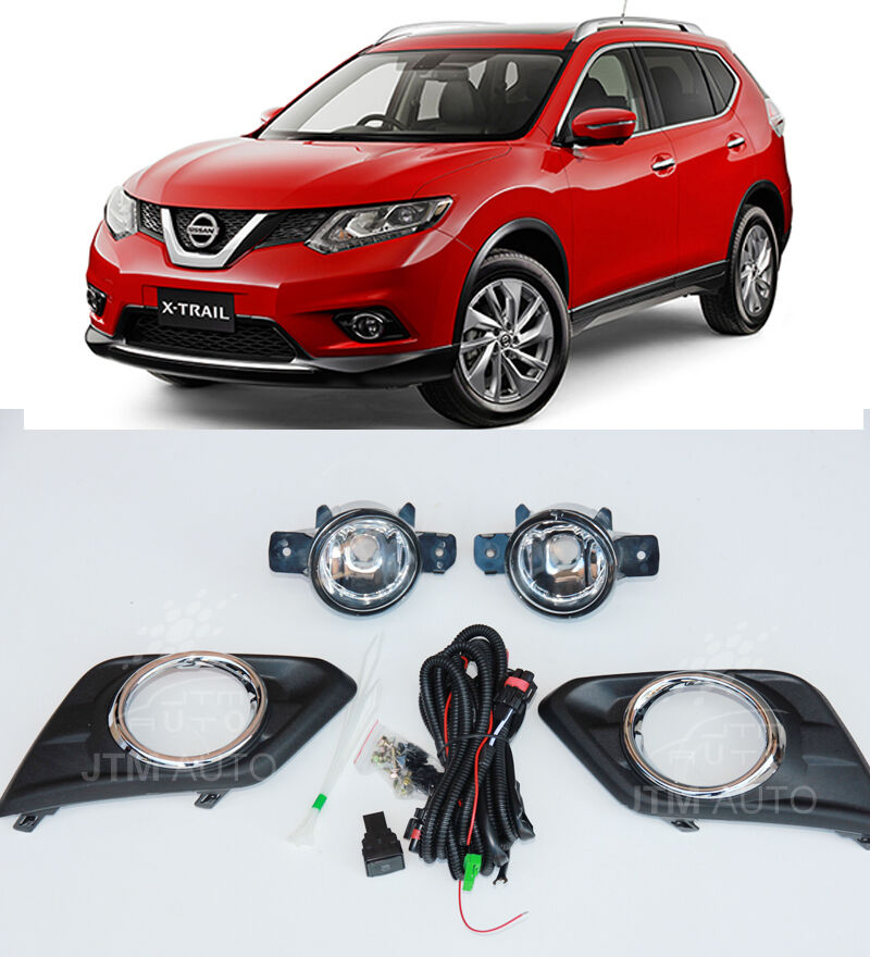 Driving/ Fog Lights Lamps Complete Kit Suits Nissan X-Trail T32 2014-2016