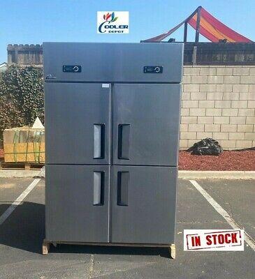 New 4 Door Refrigerator Freezer Combo Restaurant Kitchen Equipment Model Al32