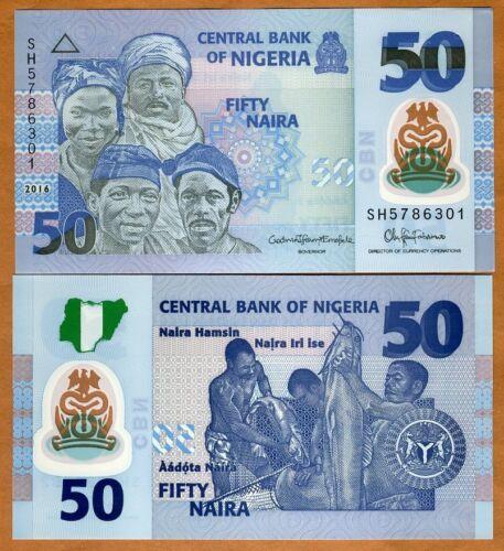 Nigeria, 50 naira, 2016, Pick 40-New,  POLYMER, UNC