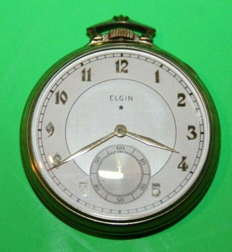 1933 Elgin 12S Pocket Watch Grade 495 Model 4  WORKING LOOKS NICE
