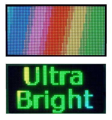 25x 12 Full Color Semi Outdoor Led Sign Programmable Scrolling Message Board