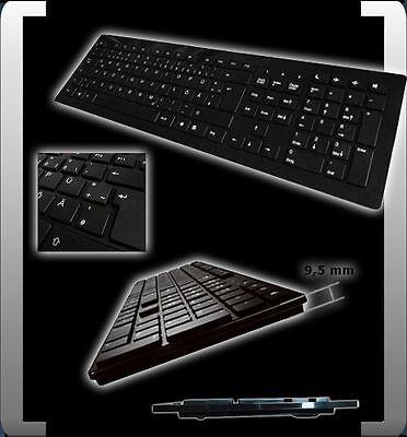 Slim Tastatur (BTC ULTRA SLIM TASTATUR USB 2.0 QWERTZ DEUTSCH !! PIANOLACK BLACK SCHWARZ NEU)