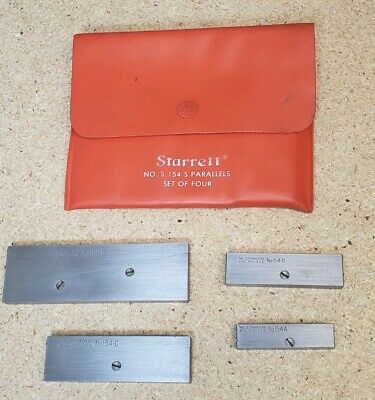 Starrett No. 154 Parallels - Set Of Four