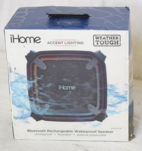 iHome Weather Tough 3 Portable Bluetooth Speaker Gray/black IBT371BG