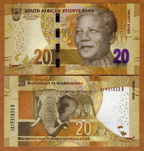 South Africa, 20 rand, ND (2015), P-139-New, Sign. Kganyago UNC > Mandela