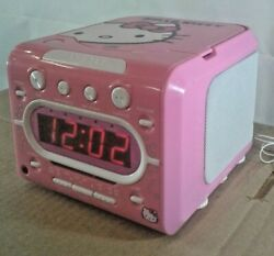 Hello Kitty AM/FM Stereo CD Dual Alarm Clock Radio - Sanrio KT2053A