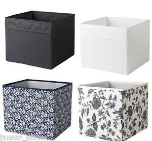 ikea gopan mini drona storage box fabric wipe clean black white buy more save ebay. Black Bedroom Furniture Sets. Home Design Ideas