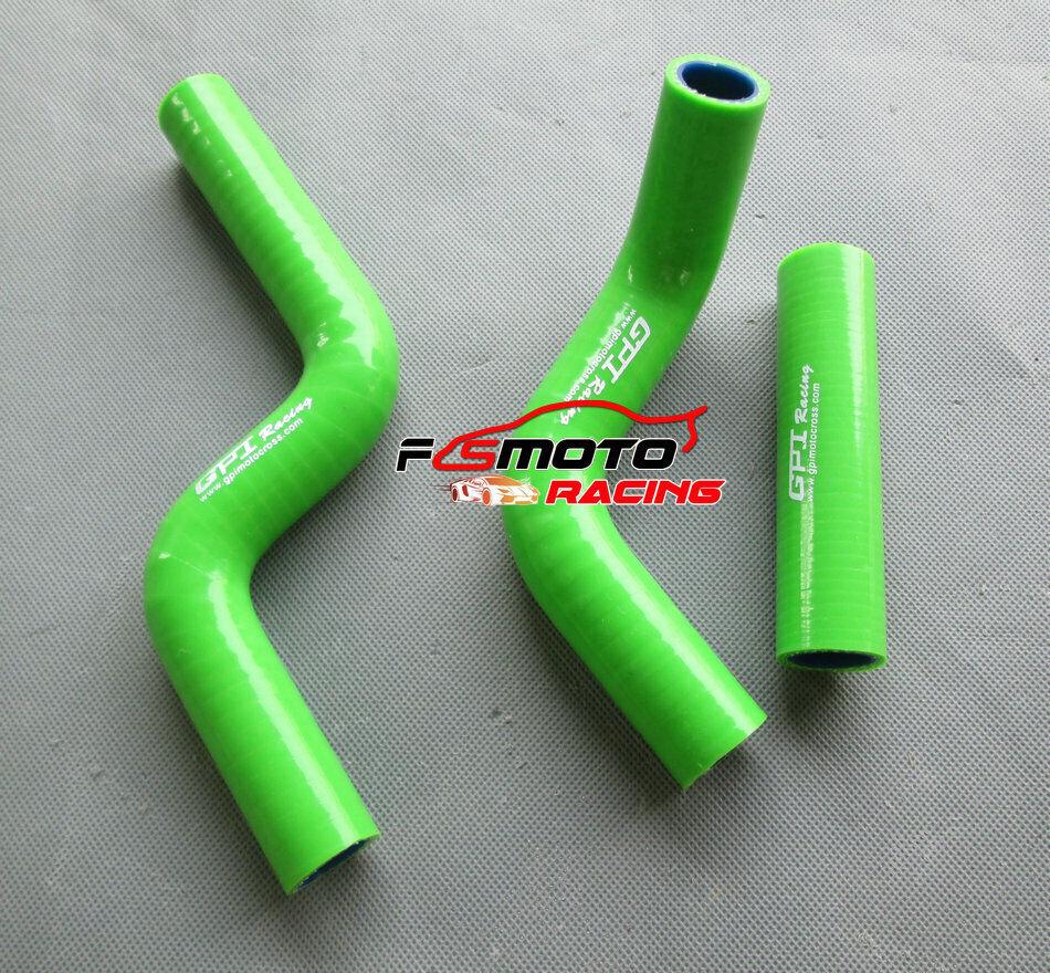 For Kawasaki KLX450 KLX450R KLX 450 R 2008-2012 Silicone radiator hose Green