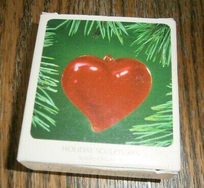 Hallmark 1983 Holiday Sculptures Red Heart - $4.50