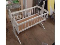 Free! Vintage/ retro rocking baby or dolls crib/ cradle