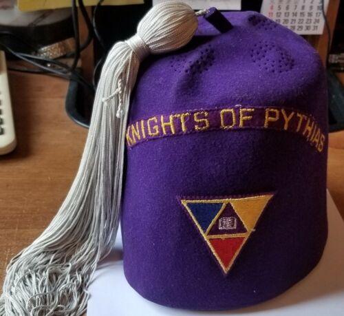 Vintage Wool Knights Of Pythias Fez.Size 7 1/4