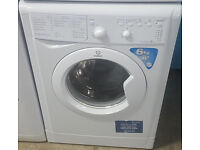 B360 white indesit 6kg 1200spin washing mchine comes with warranty can be delivered or collected