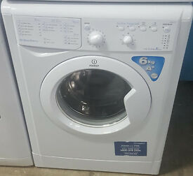 j360 white indesit 6kg 1200spin washing machine comes with warranty can be delivered or collected