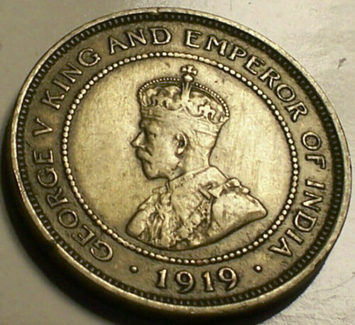 British Honduras, 1919 George V Five Cents, 5 Cents. 20,000 Mintage.