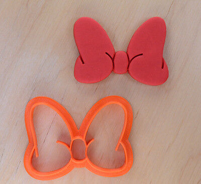 Minnie Style Bow Cookie Cutter - 3d printed plastic - Minnie Bow Cookie Cutter
