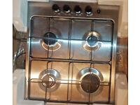 Used Electrolux EGG6041NOX Built In Gas Hob in Stainless Steel 4 gas burner UK