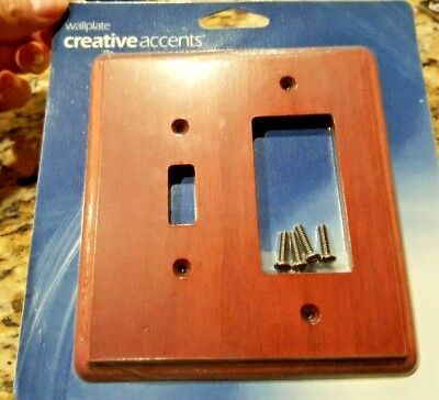 Creative Accents Wood Wall Plate - Creative Accents Wallplate Cherry Wood - 1 Toggle/1 Rocker Switchplate